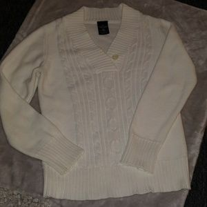 Womans cable knit sweater
